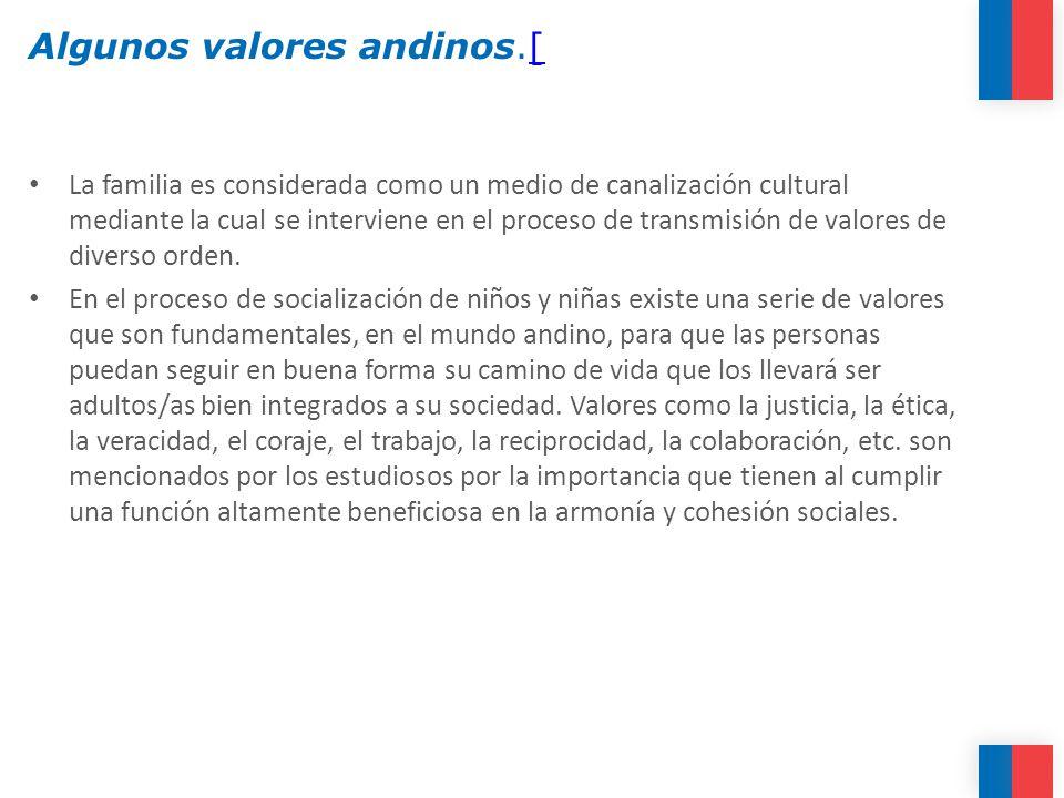 Algunos valores andinos.[
